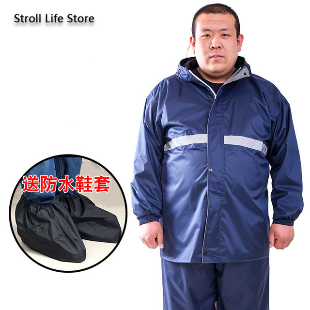 Extra Large Size Motorcycle Raincoat Men Rain Pants Camouflage Rain Coat Fat People Waterproof Suit Rain Cover Impermeable Gift