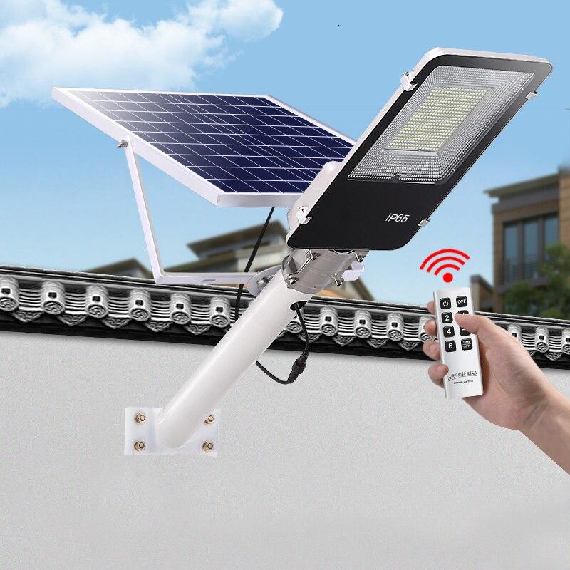 4PCS Led Solar Street Light Outdoor Led Solar Light Waterproof With Remote Control 200W Solar Led Spotlight Garden Light