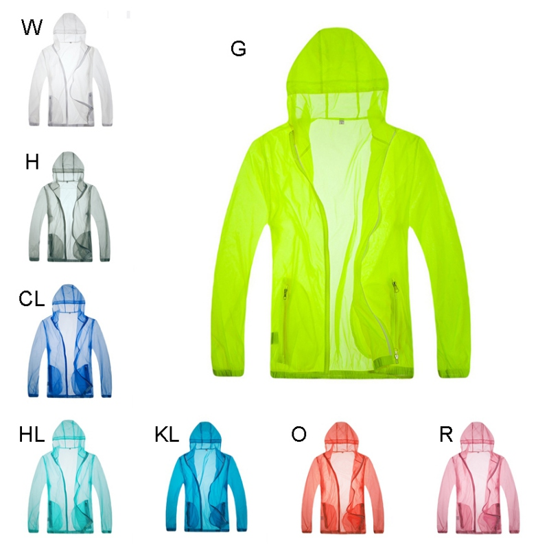 Unisex Lightweight Jacket UV Protect Fishing Shirts Quick Dry Hooded Windproof Skin Coat Sun Protection Outdoor Sports N