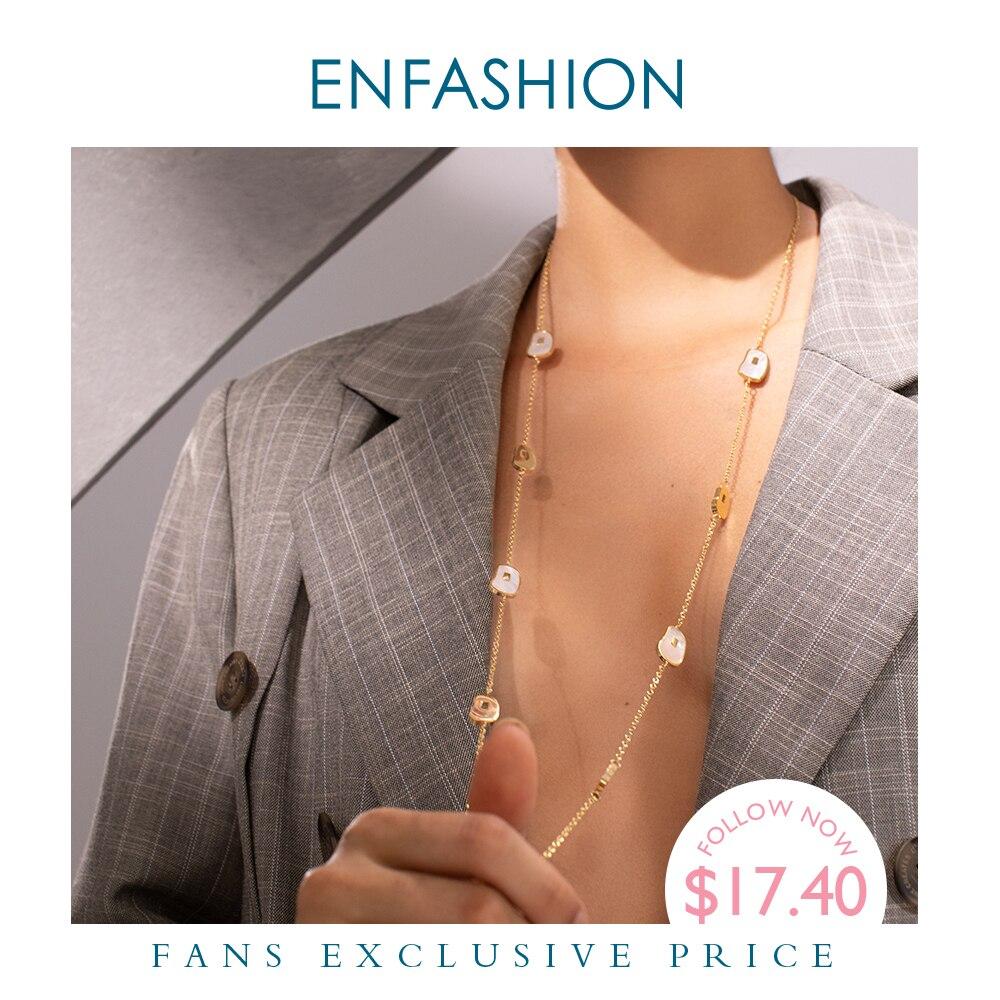 ENFASHION Нерегулярные натуральный рог кулон ожерелье для женщин Золотой Цвет нержавеющая сталь Femme длинное ожерелье ювелирные изделия P193047