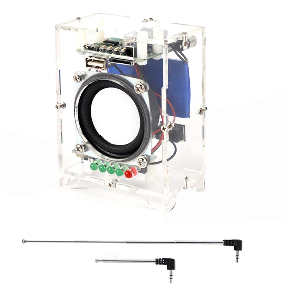 DIY Mini Speaker Kit MP3 Small Speaker Sound Amplifier For Child Kids Developmental Early Educational Toys - Finished Product