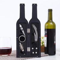 Wine Opener Set Bottle Stopper Drip Ring Wine Pourer Cockscrew Foil Cutter Kitchen Bar Accessories