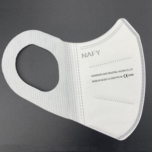 New NAFY CE2163 FFP2mask Filter Face FFP2 Masks Anti-Pollution Non-disposable Protective Masks Dust Filter Safety Mask 4