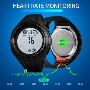 Image 3 - العلامة التجارية ساعة سكيمي الرجال ساعة ذكية النوم الفاخرة مراقب معدل ضربات القلب Smartwatch مقاوم للماء الساعات الرقمية الرجال ساعة أندرويد IOS