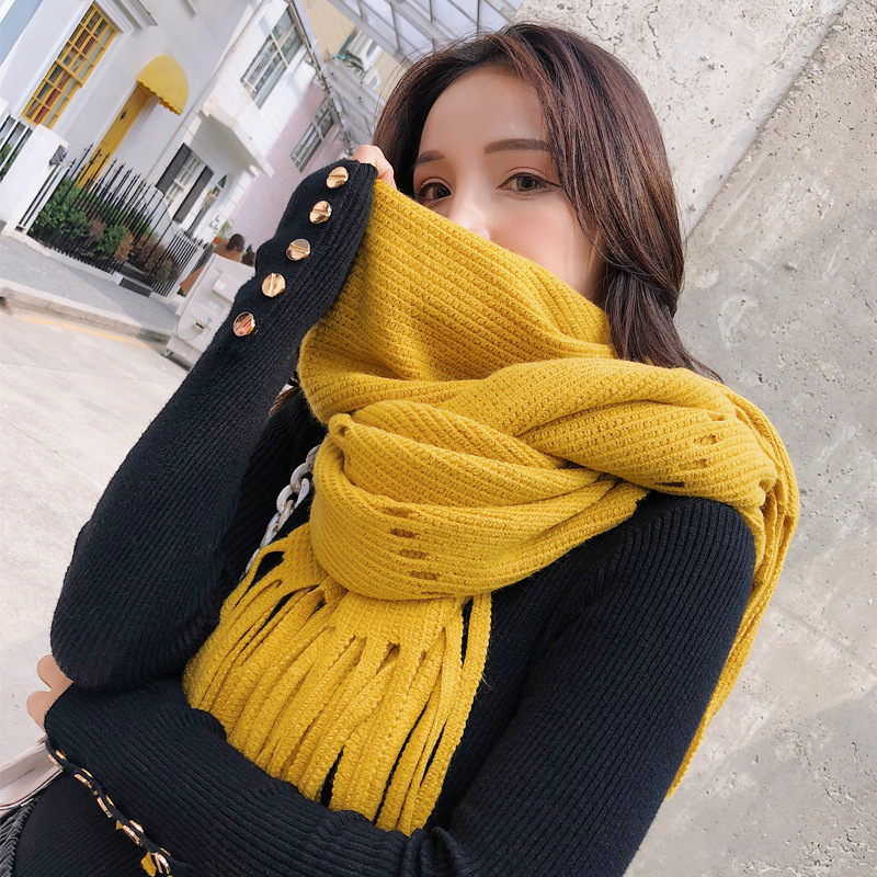 2019 New Fashion Knitted Scarf Warm Winter Women Scarf