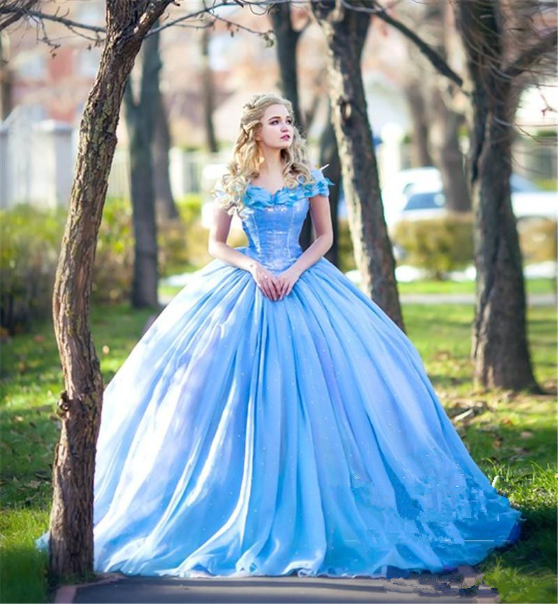 New Movie Deluxe Adult Cinderella Wedding Dresses Blue Cinderella Ball Gown Wedding Dress Bridal Dress 26240 Special Deal 5ffa7f Cicig