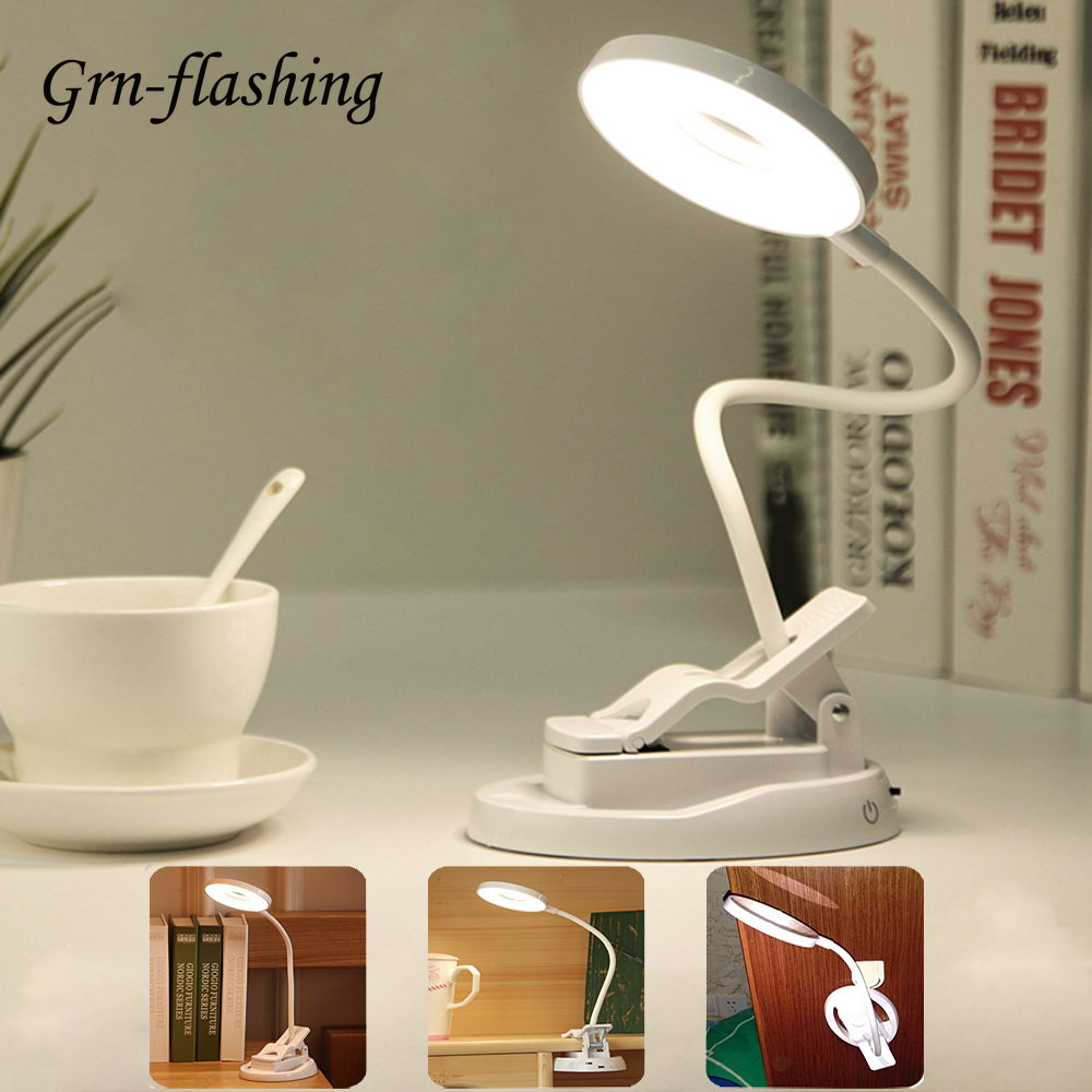 5V USB Vanity Mirror Lights Makeup Magnifying Mirror Touch Switch Dimmable Table Lamp Bedroom Book Reading LED Clip Night Light