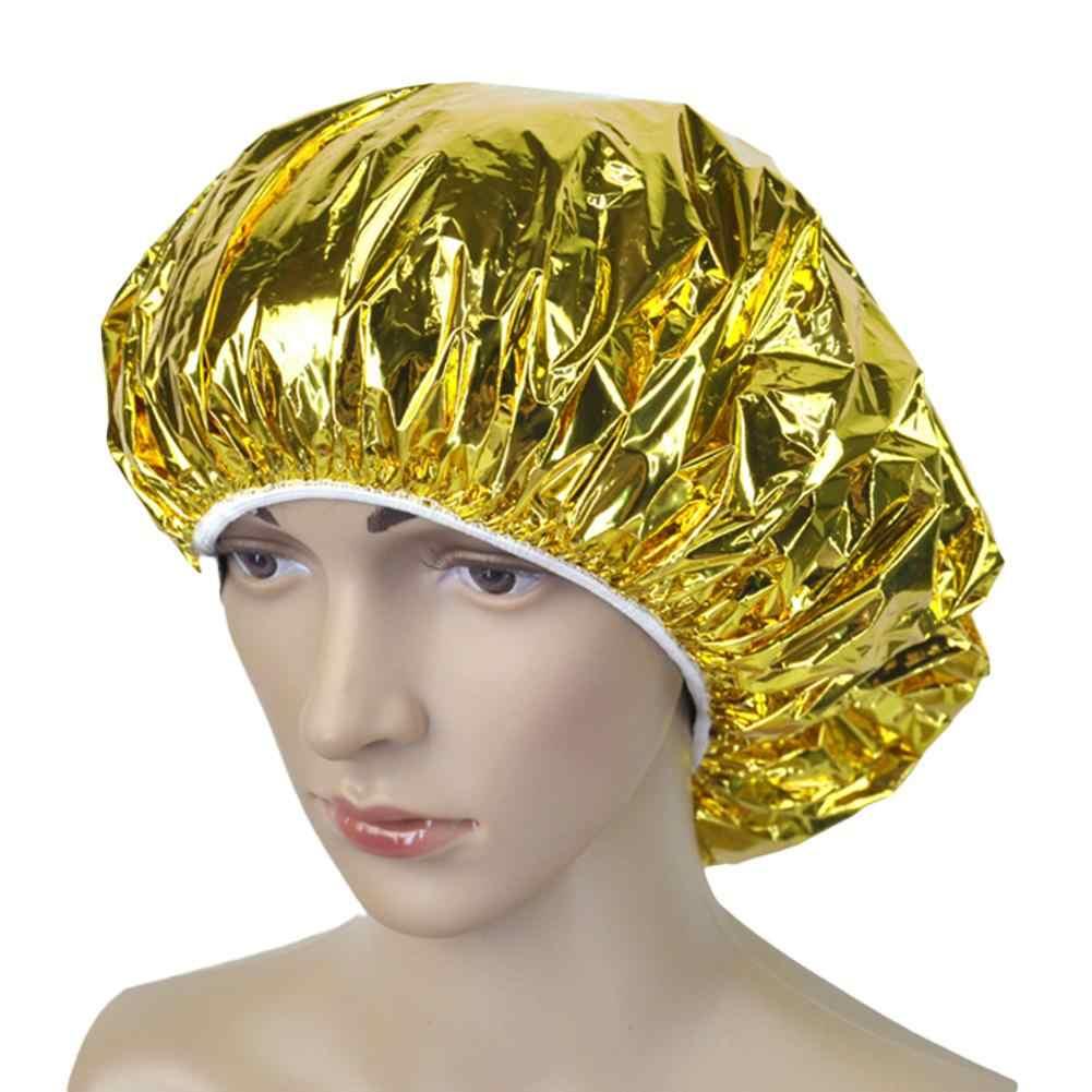 Bonnet de douche isolation thermique feuille d'aluminium isolation chapeau élastique bonnet de bain pour femmes Salon de coiffure salle de bain Salon de coiffure