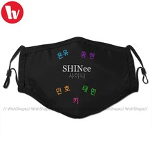 Kpop Shinee Mouth Face Mask SHINee Group Name Members Facial Mask Fashion Funny with 2 Filters for Adult