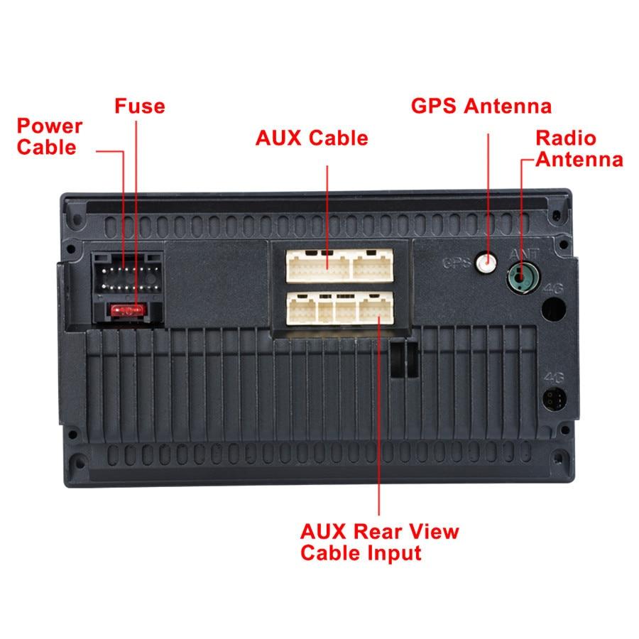 Universal 2DIN Android 8.1 Auto Radio GPS Navigation Autoradio System 7 inch IPS Bildschirm mit Hinten Kamera USB DAB empfänger