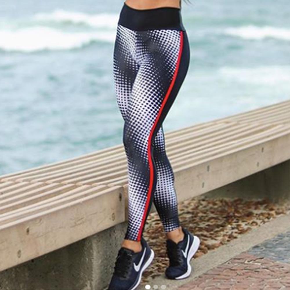 New Fashion Breathable Fitness Leggings Women High Waist Sportswear Workout Legging Push Up Women Elastic Force Legging