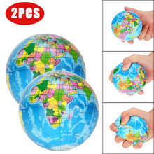 Stress Relief World Map children's toys developing Ball Palm Earth Reverse pressure ball toys anti-stress squash L1217(China)
