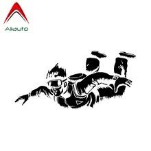 Aliauto индивидуальная наклейка для автомобиля парашютный декор силуэт водонепроницаемый Светоотражающая креативная Наклейка ПВХ графическая, 18 см* 8 см