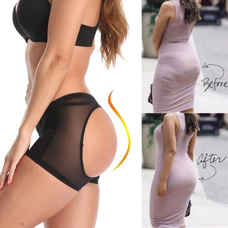 Женские трусики с сеткой и дырками, сексуальное нижнее белье с эффектом пуш-ап, нижнее белье, боксеры