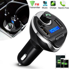 Wireless Bluetooth Handsfree In-Car FM Transmitter MP3 Player Dual USB Port(China)