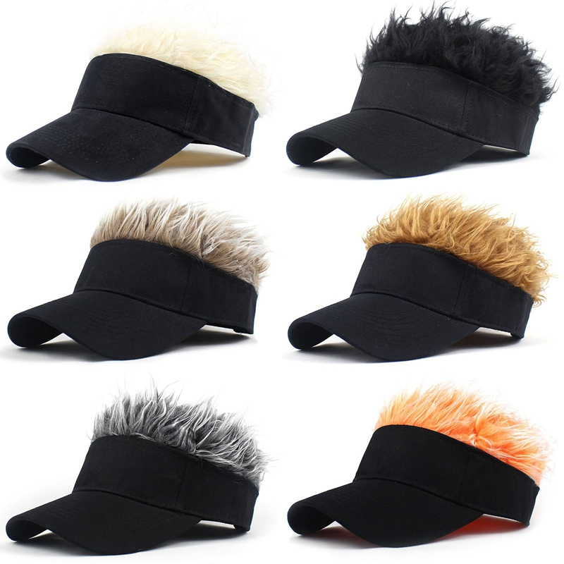 2021 Baseball Cap With Spiked Hairs Wig Baseball Hat With Spiked Wigs Men Women Casual Concise Sunshade Adjustable Sun Visor