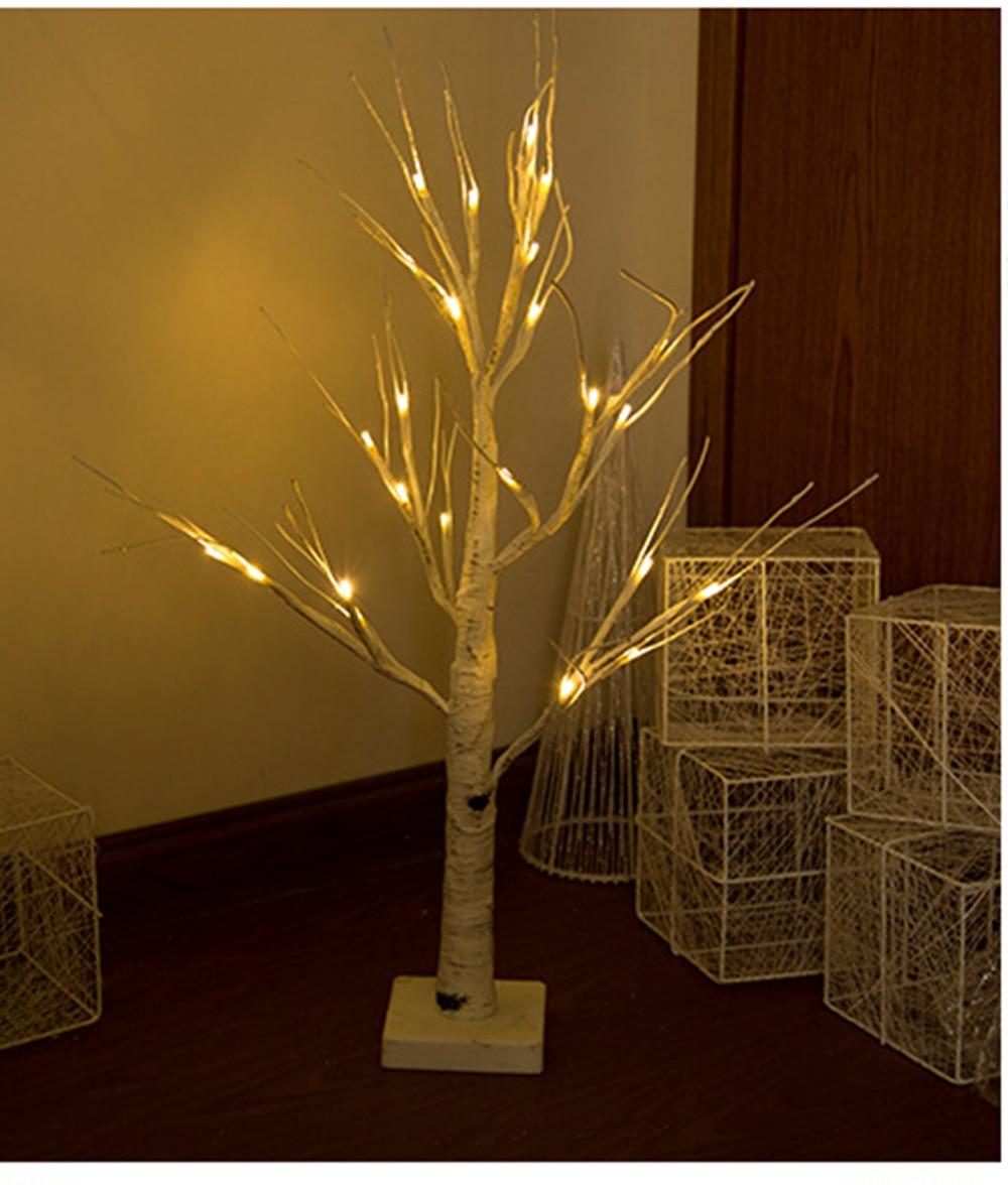 Dropshiping Indoor Tree Light LED Silver Birch Lamp Christmas Decorations For Home EU Modern Creative Christmas Tree Lighting