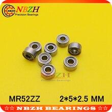 10 шт. высококачественные низкоскоростные подшипники MR52 Z MR52ZZ SMR52ZZ MR52Z L-520ZZW52 2x5x2. 5 мм 2*5*2,5 мм