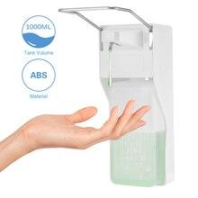 ABS פלסטיק 1000ml נוזל סבון dispenser בית חולים מלון מטבח קיר רכוב מרפק יד sanitizer היגיינה טפטוף/ספריי גרסה