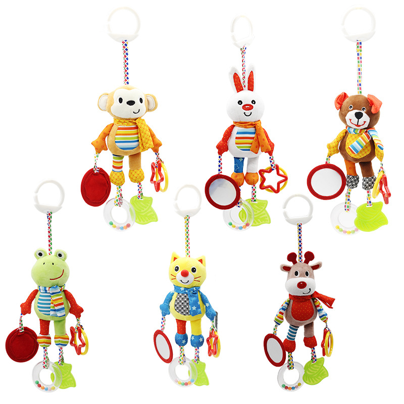 0-12 Months Bed Stroller Baby Mobile Hanging Rattles Newborn Plush Infant Toys For Baby Boys Cartoon Baby Toys Girls