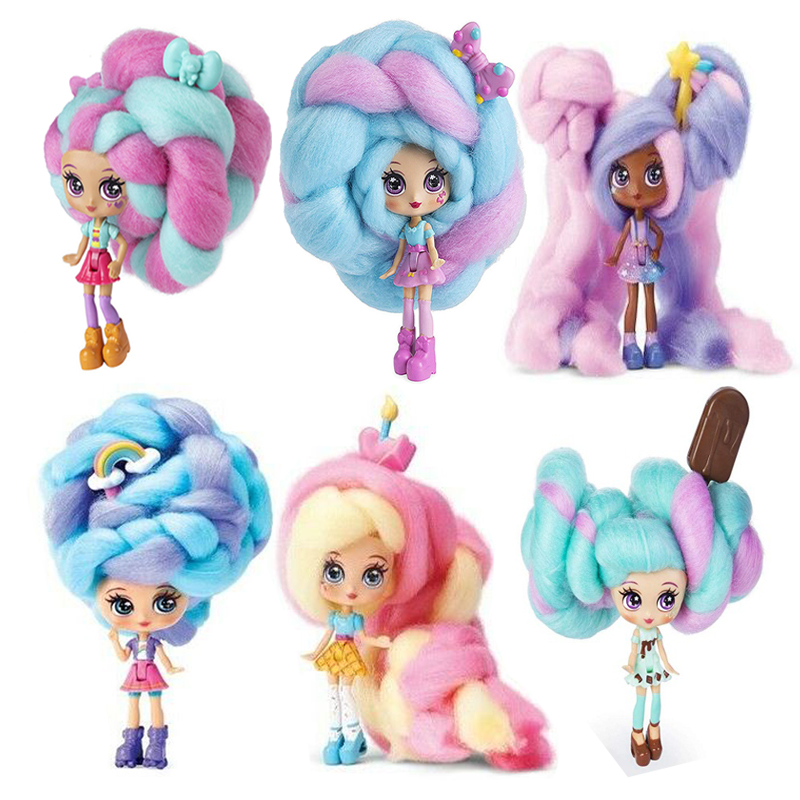 Candylocks 2020 Newest Hot Sweet Treat Toys 40cm Marshmallow Hair Hairstyle Hobbies Dolls Accessories with Scented Doll Kid Gift
