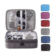 Дорожная цифровая сумка для хранения портативные электронные аксессуары Кабельный органайзер сумка для зарядного устройства коробка на молнии чехол USB сумка для проводов