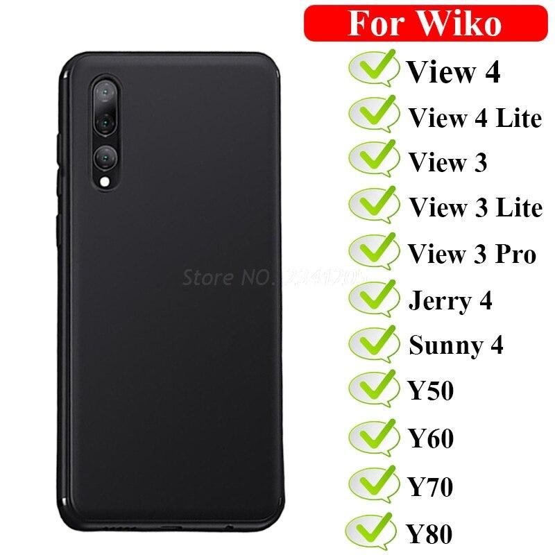 Caso Fosco TPU Soft Para Wiko View4 4 Lite Capa Para Wiko Y50 Y60 Y70 Y80 Jerry4 Suuny4 Capa Para wiko View3 3 Pro Lite Caso estojo
