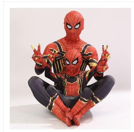 Aven Iron Spidan Costume Spider Man Suit Spidan Halloween Costumes Men Adult Kids Spidan Cosplay Clothing 1