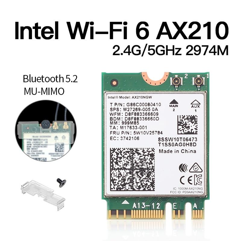 ax210 m.2 ngff bluetooth 5.2 wifi rede wlan
