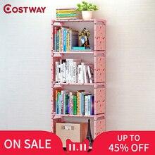 COSTWAY półka na książki półka na książki dla dzieci stojak na książki regał na dom umeblowanie Boekenkast Librero estanteria kitaplik