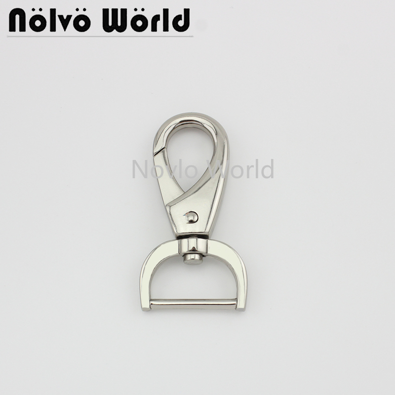 Wholesale 500pcs, 4 Colors Accept Mix Color, 62*25.5mm 1 Inch Metal Strap Buckle For Bags, Swivel Snap Hook Accessories