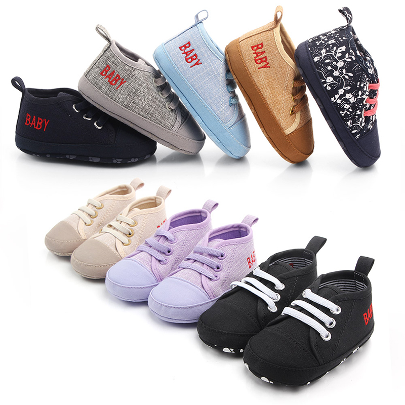 Sneakers Crib-Shoes Toddler Non-Slip Soft Baby-Girls Autumn Boys Spring Football-Print