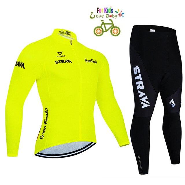 2020 strava criança bicicleta meninos roupas conjunto camisa de ciclismo respirável secagem rápida crianças adorável ciclismo roupas terno 2