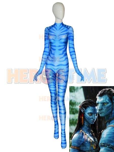Neytiri Suit Avatar 2 Na'vi Female Girls Women Ladys Cosplay Costume with Tail 3D Print Spandex Halloween jumpsuit
