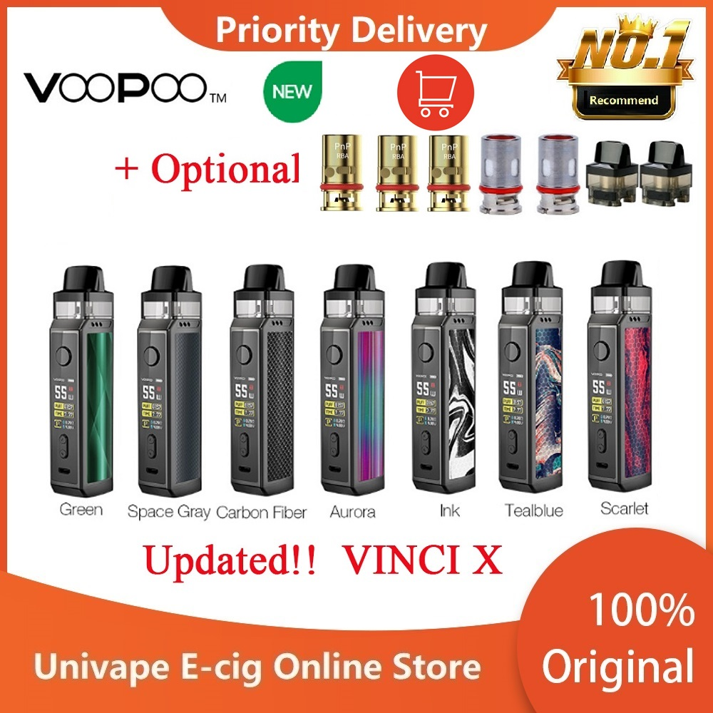 New Original VOOPOO VINCI X 70W Pod Kit Dual-coil System 0.96-Inch Screen Powered By One 18650 Battery Vape Kitvs Vinci Mod Kit