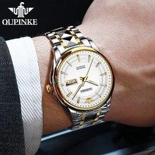 OUPINKE-reloj mecánico automático zafiro para hombre, de pulsera, resistente al agua, de marca de lujo, para movimiento, Japón, seiko NH36A