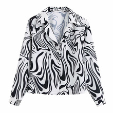 Printed Zebra Shirt Women Autumn Long Sleeve Casual Female Shirts Thin Loose Ladies Full Slim Tops