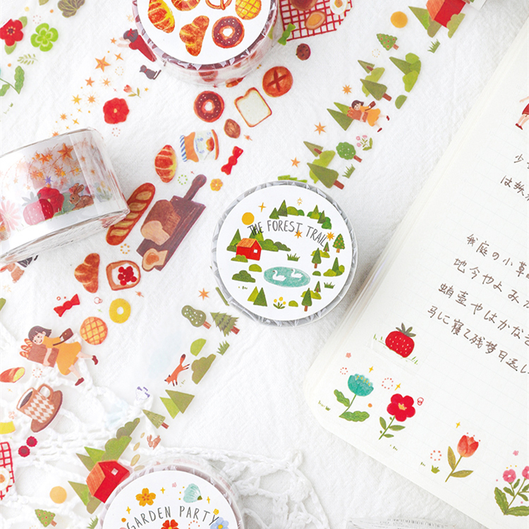 Fairytale Wonderland Washi Tape Planner Adhesive Tape Diy Scrapbooking Sticker Label Japanese Masking Tape