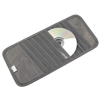 Najwyższa jakość osłona przeciwsłoneczna do samochodu szklany długopis CD DVD Disk etui na karty z pudełko na chusteczki przechowywanie wielofunkcyjne uchwyt torba klips tanie i dobre opinie HLEST non-woven fabric 0 06kg 12cm CP04740 10cm Federacja rosyjska Acura HONDA Amt jaeggle MOTO motocykli LUXXON motocykli