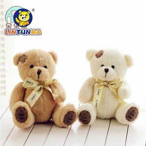 Image 4 - 1pc 15cm Patch Bear Dolls Teddy Bear Soft Toy Bear Wedding Gifts Baby Toy Birthday gift brinquedos Soft toys