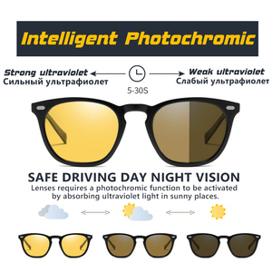 Image 3 - CoolPandas 2020 Retro Frauen Cat Eye Sonnenbrille Photochrome Polarisierte Männer Sonnenbrille Tag Nacht Vision Oculos gafas de sol mujer