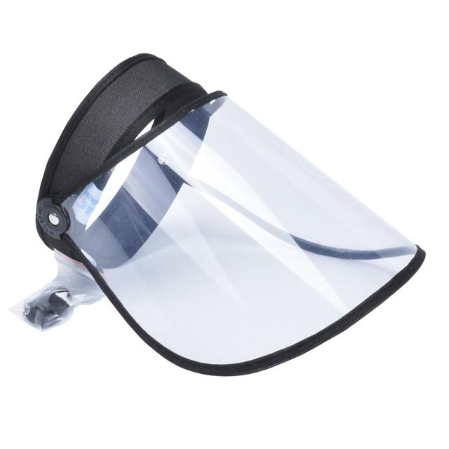 Anti Saliva Face Shield Anti-Fog Adjustable Head Protection Transparent Cover visor hat cap women accessories 1