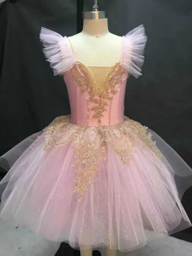 Étincelant longue ballerine robe enfant enfants Style romantique Ballet danse Costume pour femmes filles doux Tulle Tutu gymnastique justaucorps - 5