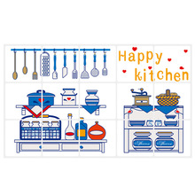 Kitchen Oil Proof Waterproof Wall Sticker High Temperature Resistant Wallpaper Home Decor  _WK