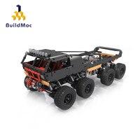 BuildMoc Technic Car Toys MOC Electric Remote Control Motor Super Climbing off road Truck City Racing Assembled Building Blocks