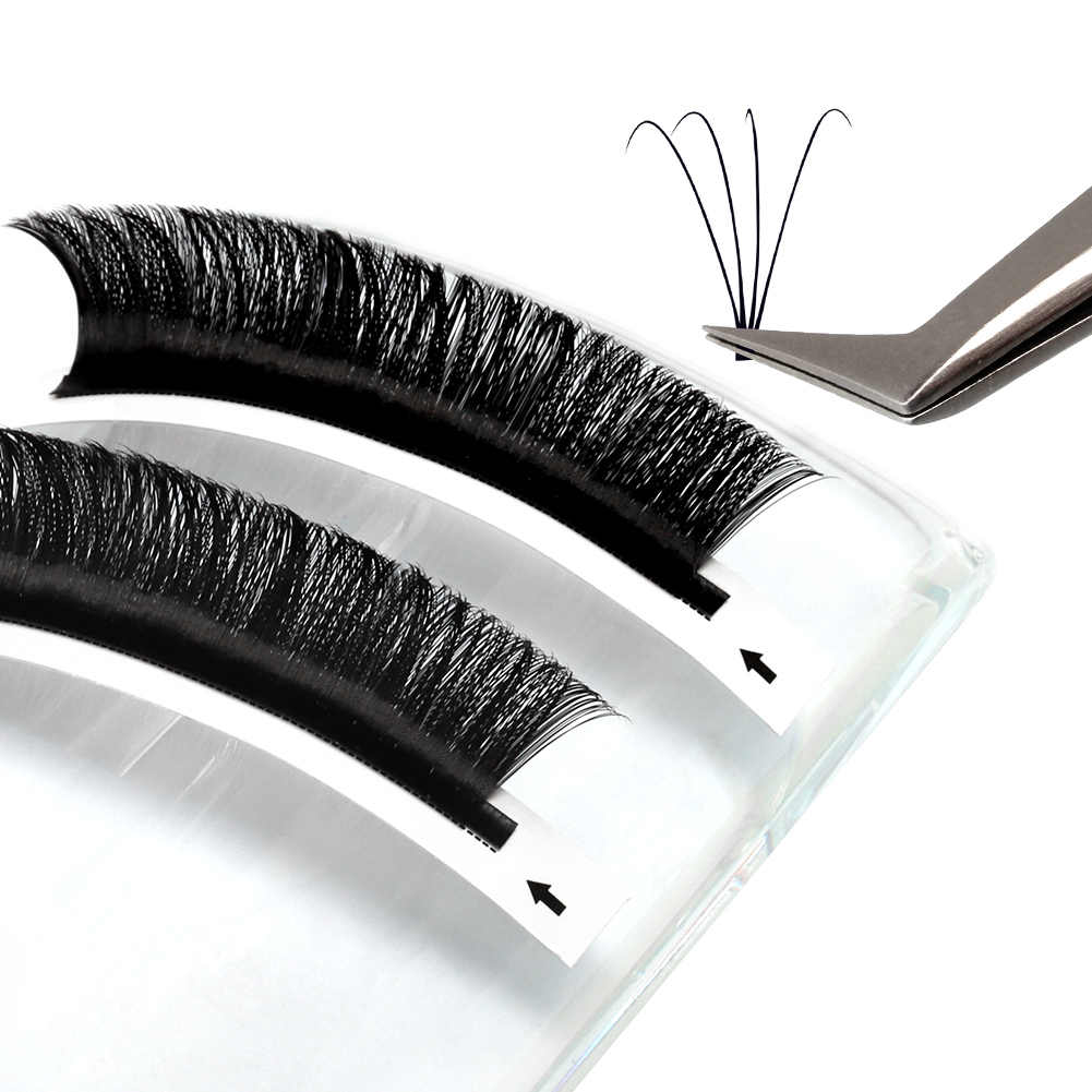 Easy Auto Fanning Natural Camellia Blossom Curl C D Volume Lashes Matte Synthetic MINK Individual Eyelash Extension 0.07