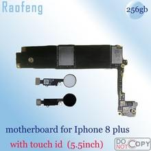 Замена с сенсорным ID материнская плата для iphone 8 Plus разблокирована 256 ГБ для iphone 8 5,5 дюймов материнская плата полная функция логическая плата