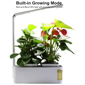 Indoor Smart LED Grow Lights Herb Garden Hydroponics Growing System  Built-in Two Light Modes Water Shortage Alarm Grow Light