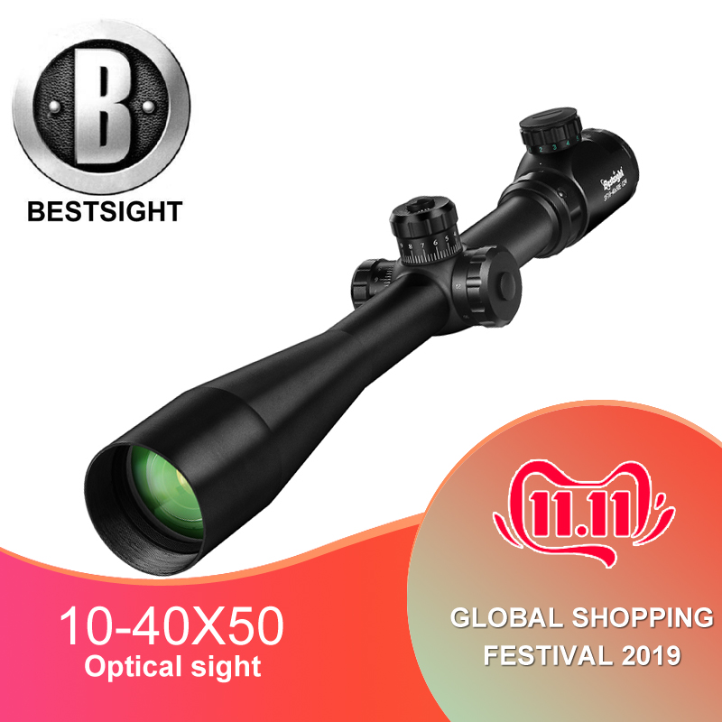 10-40x50 Long Range Riflescope Side Wheel Parallax Optic Sight Rifle Scope Hunting Scopes Sniper Luneta Para Rifle