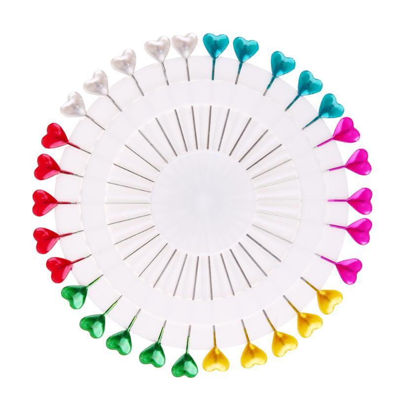 30 шт/480 шт красочные круглые жемчужные прямые головки шпильки локализация Иглы Швейные шпильки DIY Свадебный корсаж аксессуары для одежды - Цвет: Heart